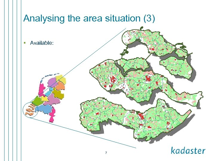 Analysing the area situation (3) § Available: 7