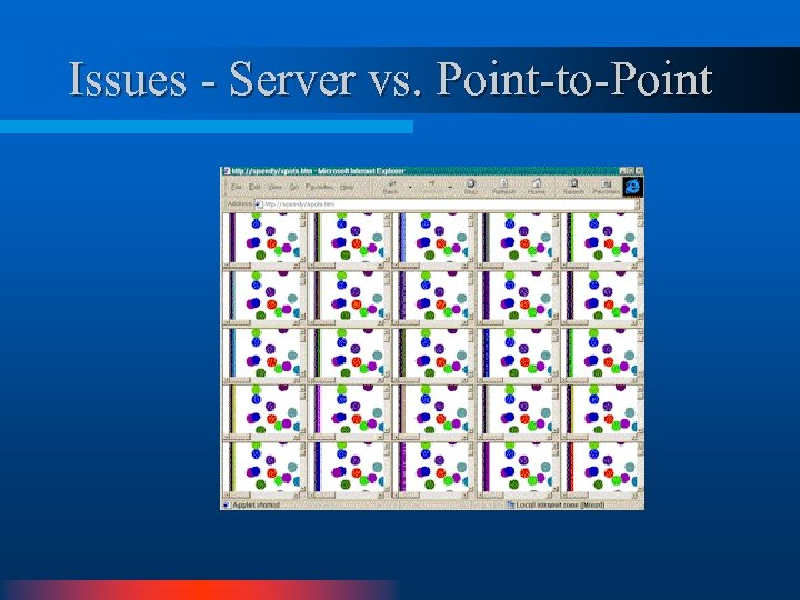 Issues - Server vs. Point-to-Point