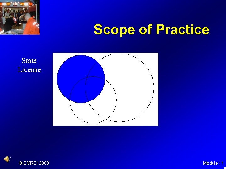 Scope of Practice State License © EMRCI 2008 Module : 1