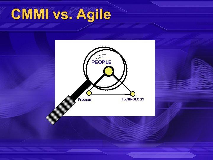 CMMI vs. Agile PEOPLE Process TECHNOLOGY