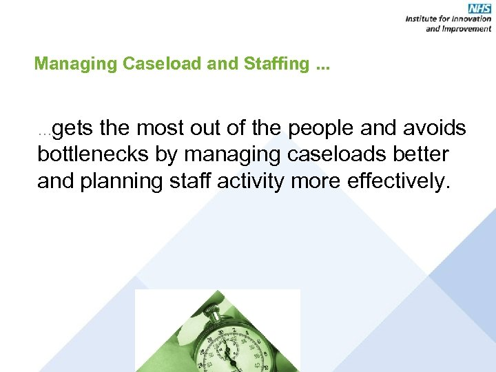 Managing Caseload and Staffing. . . …gets the most out of the people and