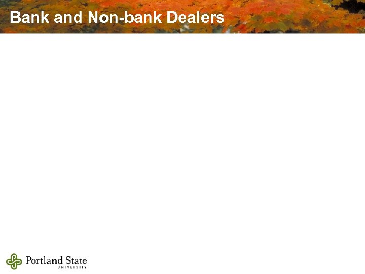 Bank and Non-bank Dealers