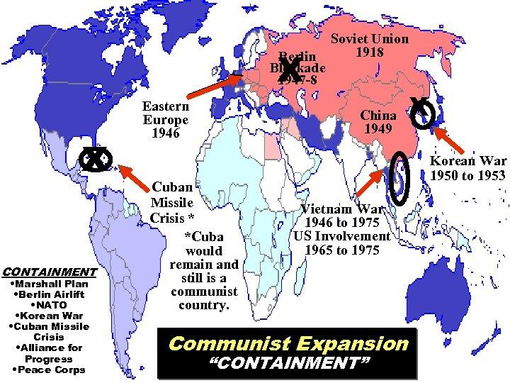 X Berlin Blockade 1947 -8 X CONTAINMENT • Marshall Plan • Berlin Airlift •