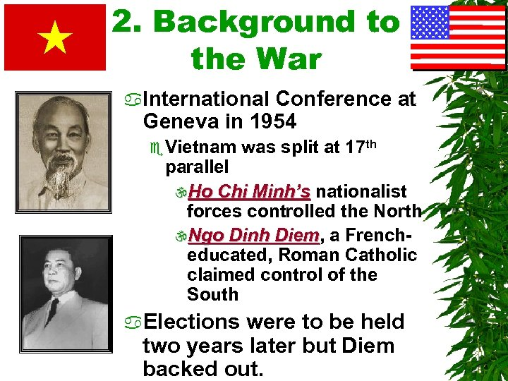 2. Background to the War a. International Conference at Geneva in 1954 e Vietnam