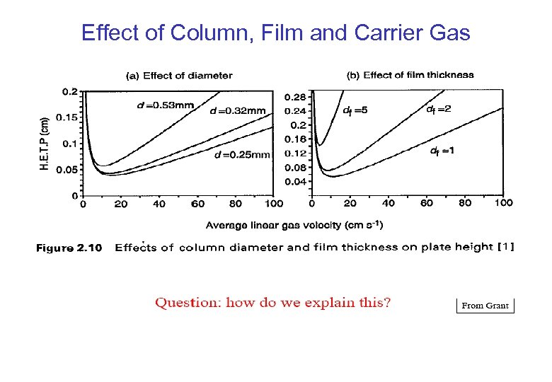 Effect of Column, Film and Carrier Gas