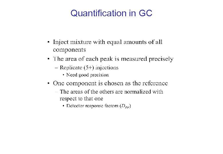 Quantification in GC