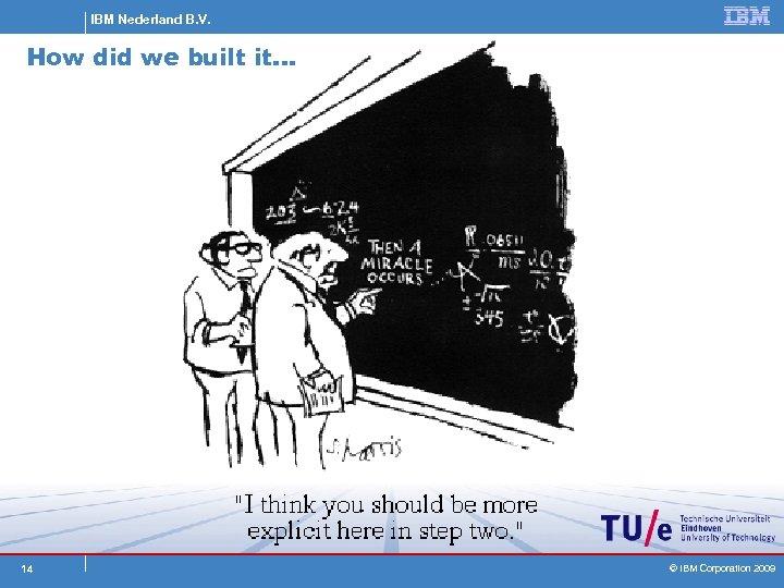 IBM Nederland B. V. How did we built it… 14 © IBM Corporation 2009