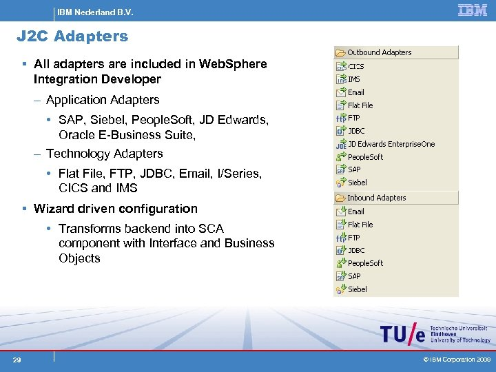 IBM Nederland B. V. J 2 C Adapters § All adapters are included in