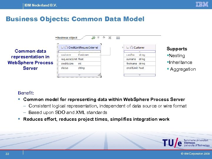 IBM Nederland B. V. Business Objects: Common Data Model Common data representation in Web.
