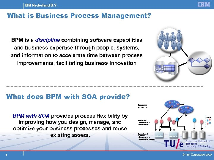 IBM Nederland B. V. What is Business Process Management? BPM is a discipline combining
