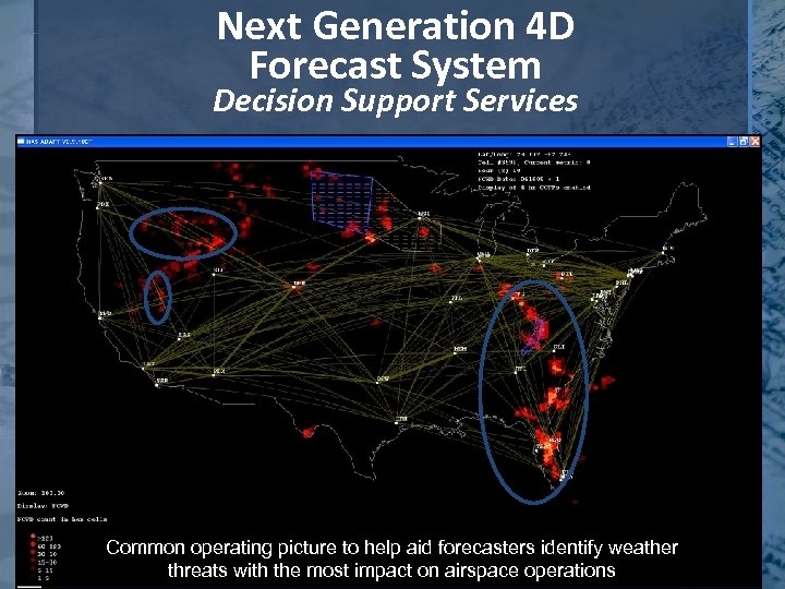Next Generation 4 D Forecast System Decision Support Services Common operating picture to help