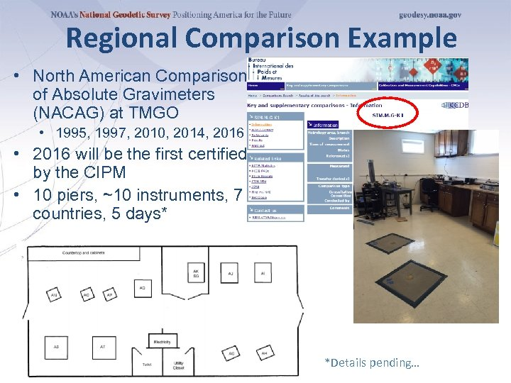 Regional Comparison Example • North American Comparison of Absolute Gravimeters (NACAG) at TMGO •