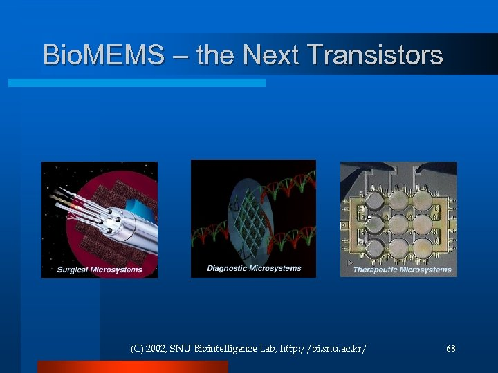 Bio. MEMS – the Next Transistors (C) 2002, SNU Biointelligence Lab, http: //bi. snu.