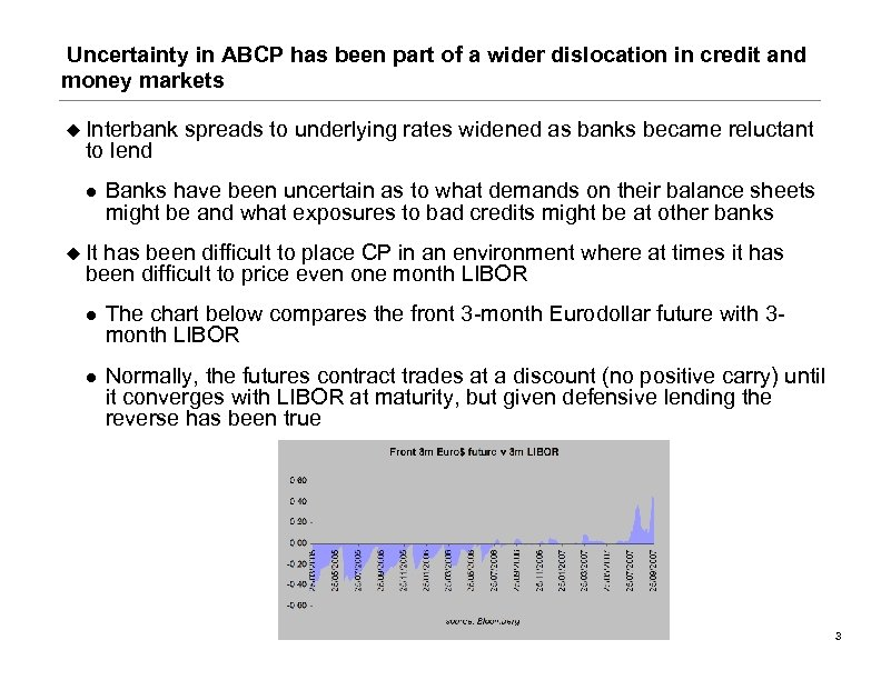 Uncertainty in ABCP has been part of a wider dislocation in credit and money