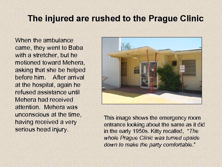 The injured are rushed to the Prague Clinic When the ambulance came, they went