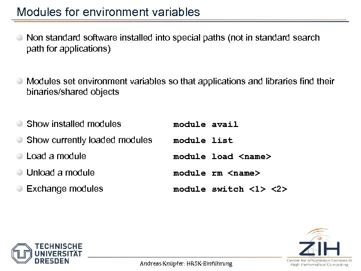 Modules for environment variables Non standard software installed into special paths (not in standard