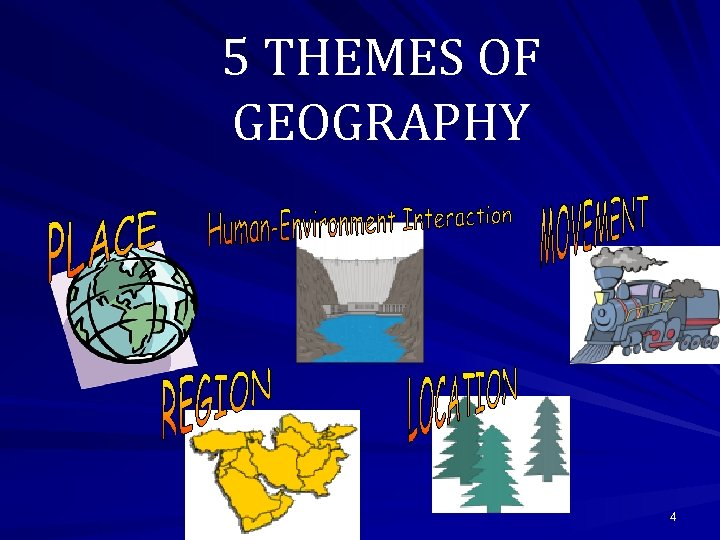 5 THEMES OF GEOGRAPHY 4