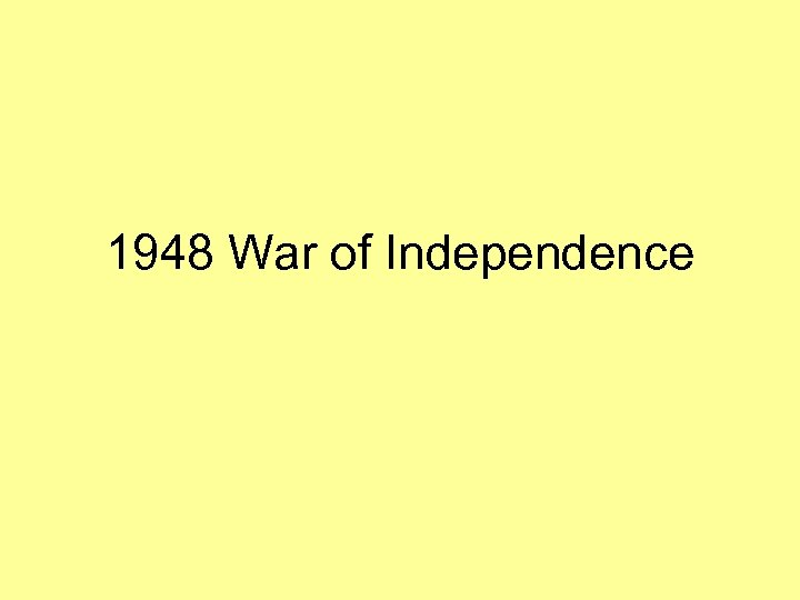1948 War of Independence