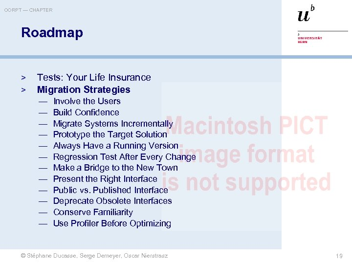 OORPT — CHAPTER Roadmap > > Tests: Your Life Insurance Migration Strategies — —