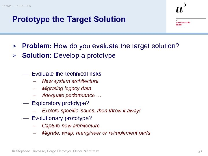OORPT — CHAPTER Prototype the Target Solution > Problem: How do you evaluate the
