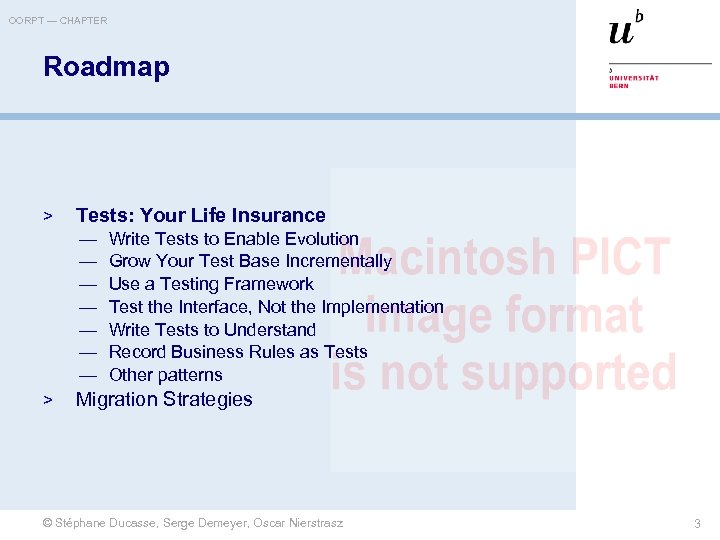 OORPT — CHAPTER Roadmap > Tests: Your Life Insurance — — — — >