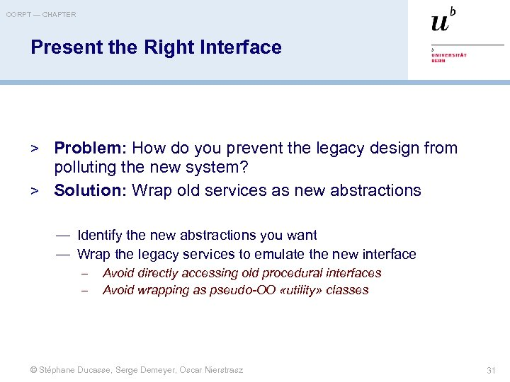 OORPT — CHAPTER Present the Right Interface > Problem: How do you prevent the