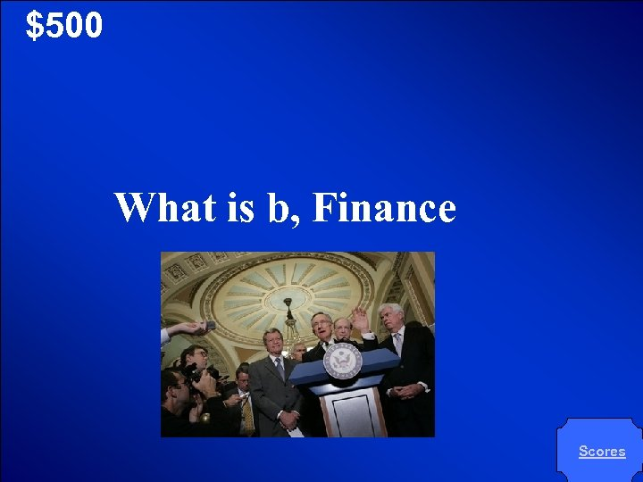 © Mark E. Damon - All Rights Reserved $500 What is b, Finance Scores