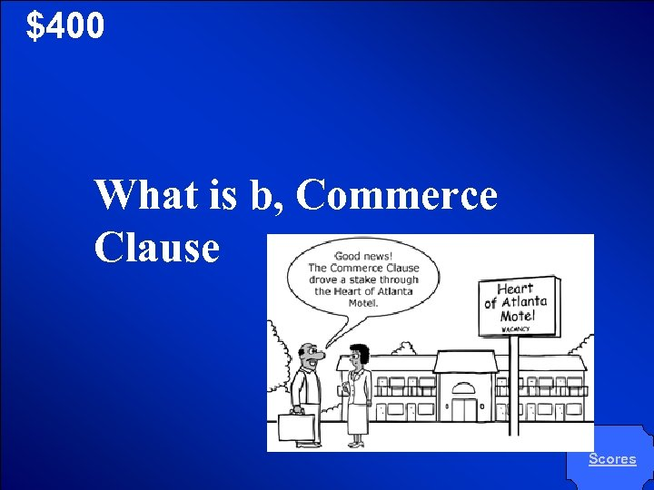 © Mark E. Damon - All Rights Reserved $400 What is b, Commerce Clause