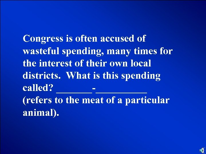 © Mark E. Damon - All Rights Reserved Congress is often accused of wasteful
