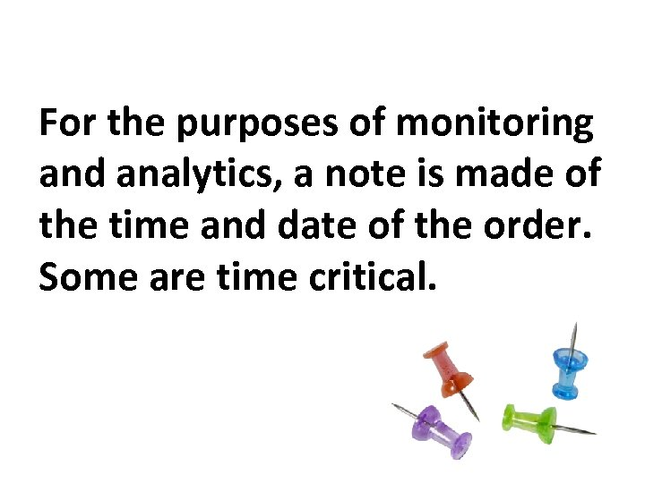 For the purposes of monitoring and analytics, a note is made of the time