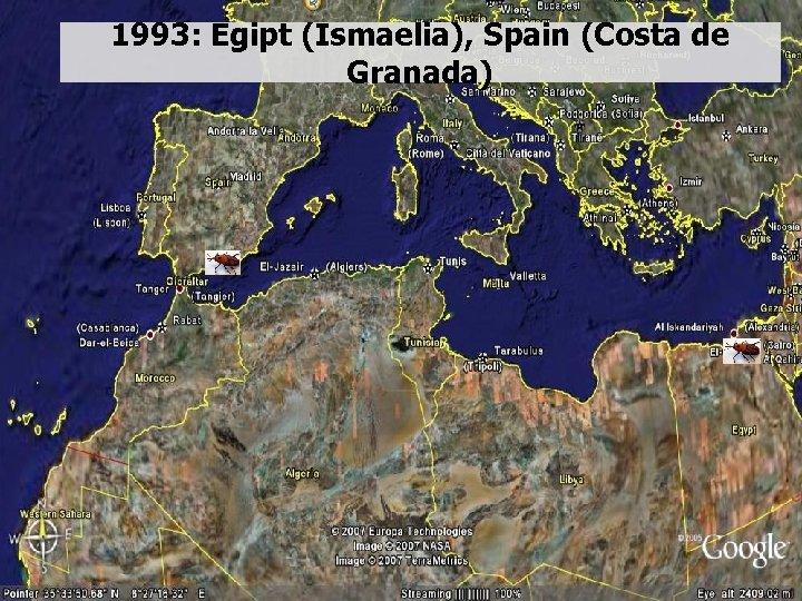 1993: Egipt (Ismaelia), Spain (Costa de Granada)