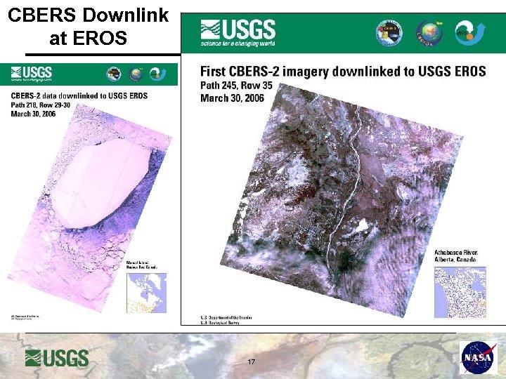 CBERS Downlink at EROS 17