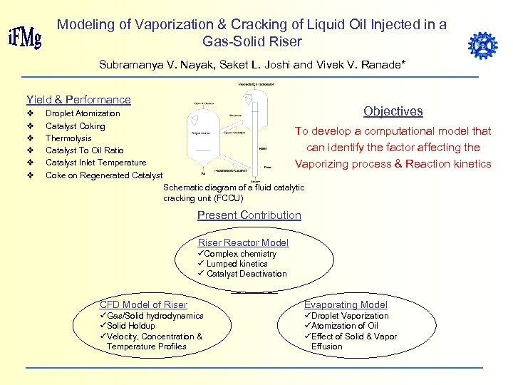 Modeling of Vaporization & Cracking of Liquid Oil Injected in a Gas-Solid Riser Subramanya