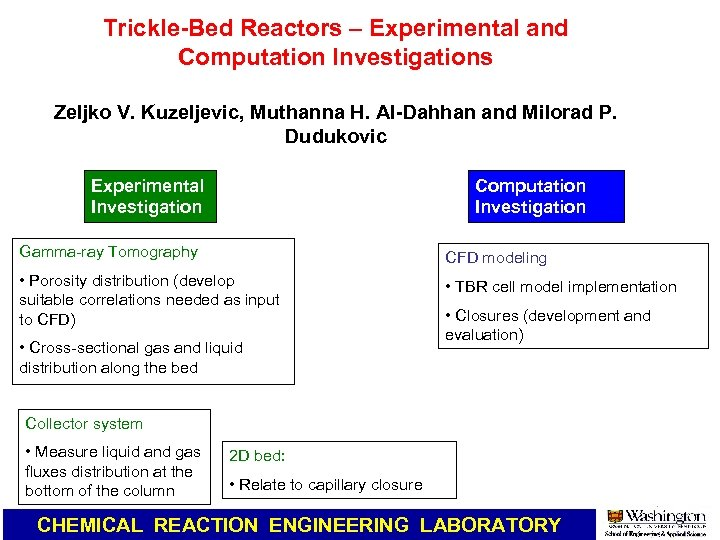 Bubble and Slurry columns CHEMICAL REACTION ENGINEERING