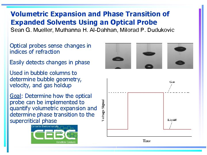 Volumetric Expansion and Phase Transition of Expanded Solvents Using an Optical Probe Sean G.