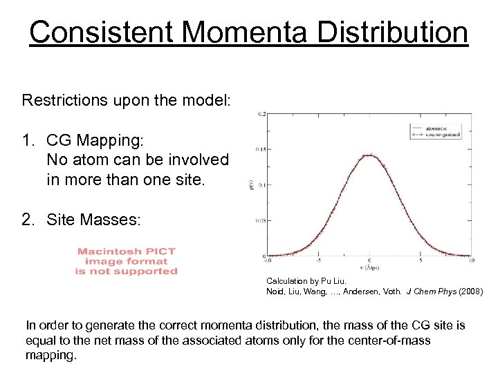 Consistent Momenta Distribution Restrictions upon the model: 1. CG Mapping: No atom can be