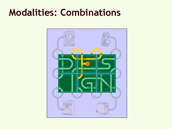 Modalities: Combinations