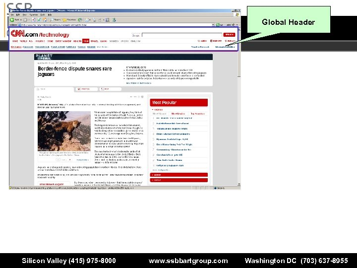Global Header Silicon Valley (415) 975 -8000 www. ssbbartgroup. com Washington DC (703) 637