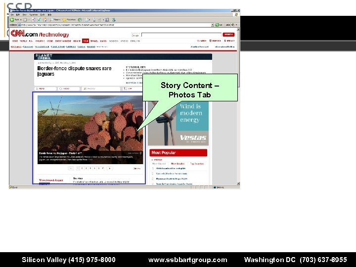 Story Content – Photos Tab Silicon Valley (415) 975 -8000 www. ssbbartgroup. com Washington