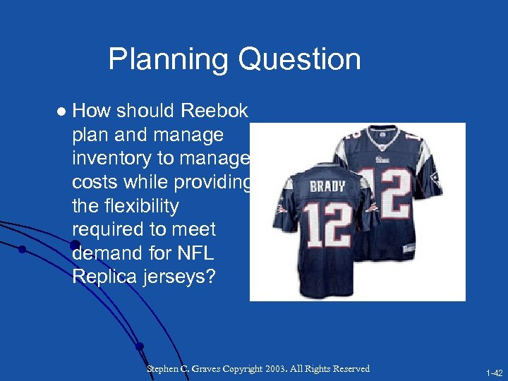 Planning Question l How should Reebok plan and manage inventory to manage costs while