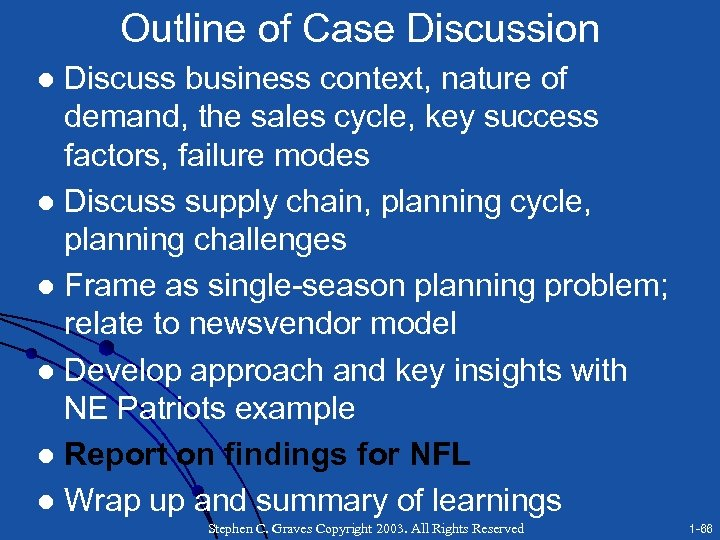 Outline of Case Discussion Discuss business context, nature of demand, the sales cycle, key