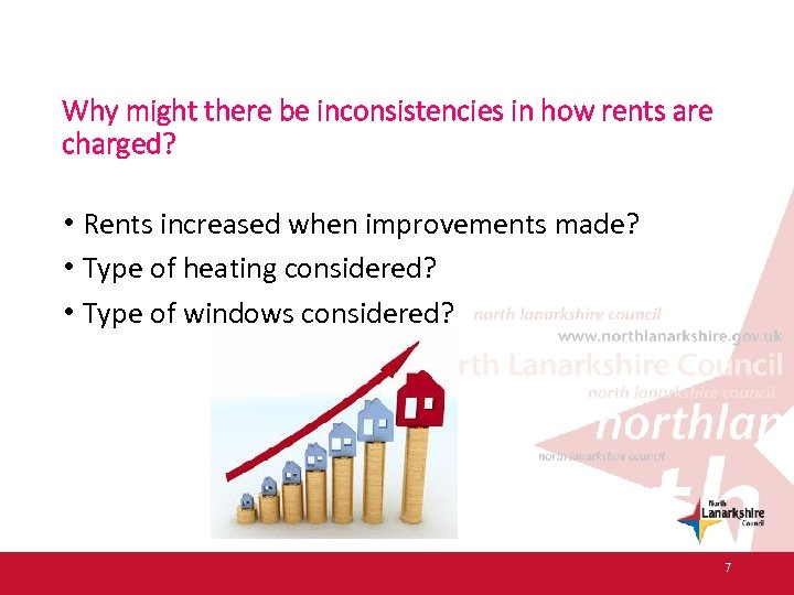 Why might there be inconsistencies in how rents are charged? • Rents increased when
