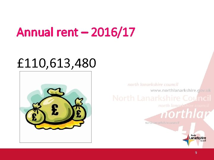 Annual rent – 2016/17 £ 110, 613, 480 9