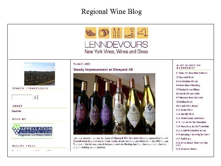 Regional Wine Blog