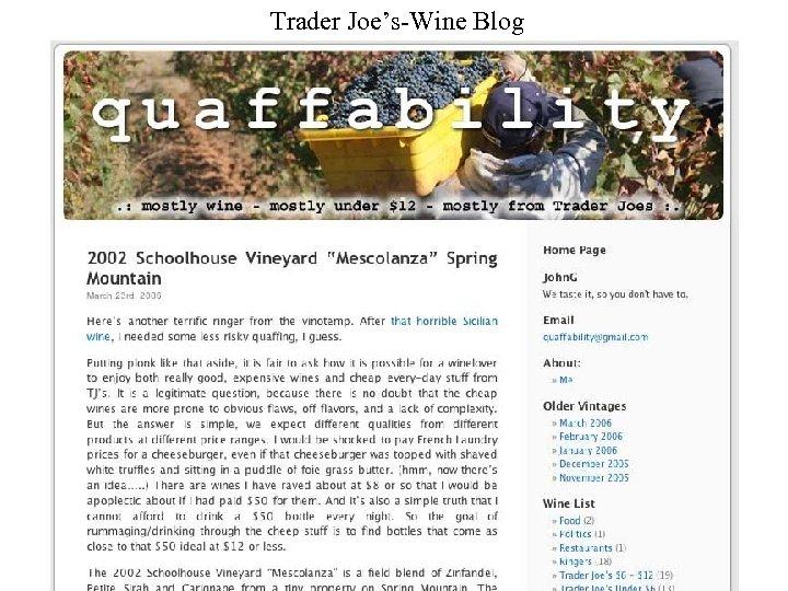 Trader Joe's-Wine Blog
