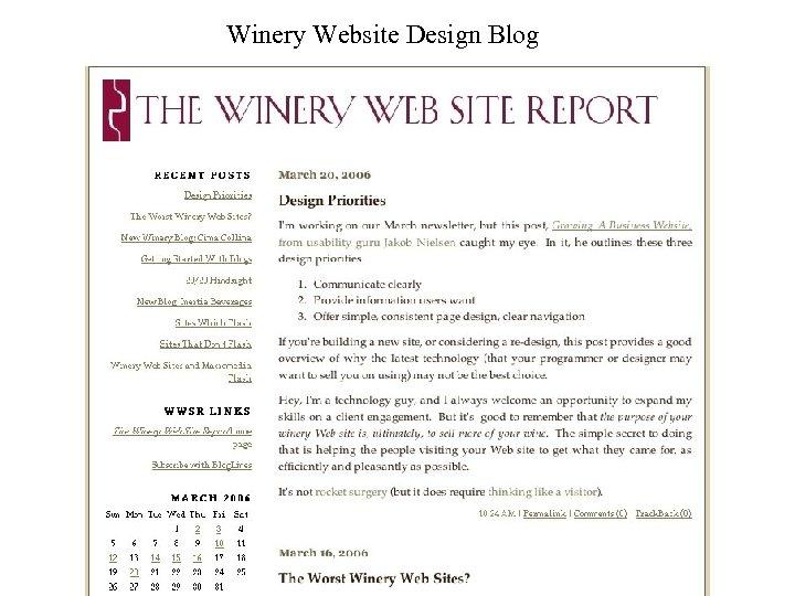 Winery Website Design Blog