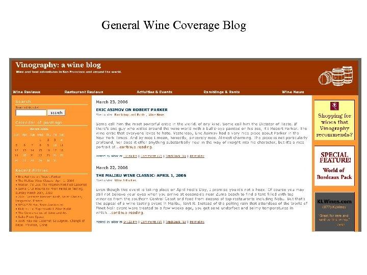 General Wine Coverage Blog