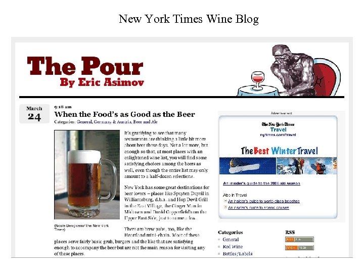 New York Times Wine Blog