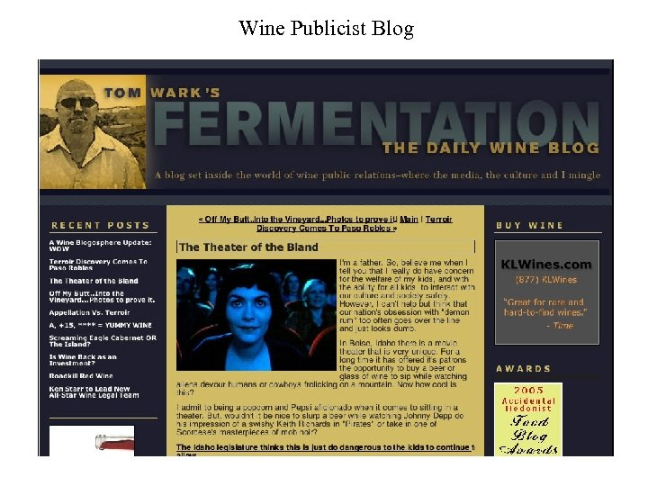 Wine Publicist Blog