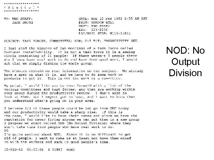 NOD: No Output Division